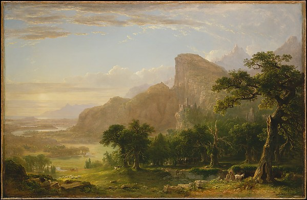 """Landscape—Scene from """"Thanatopsis"""", Asher Brown Durand (American, Jefferson, New Jersey 1796–1886 Maplewood, New Jersey), Oil on canvas, American"""