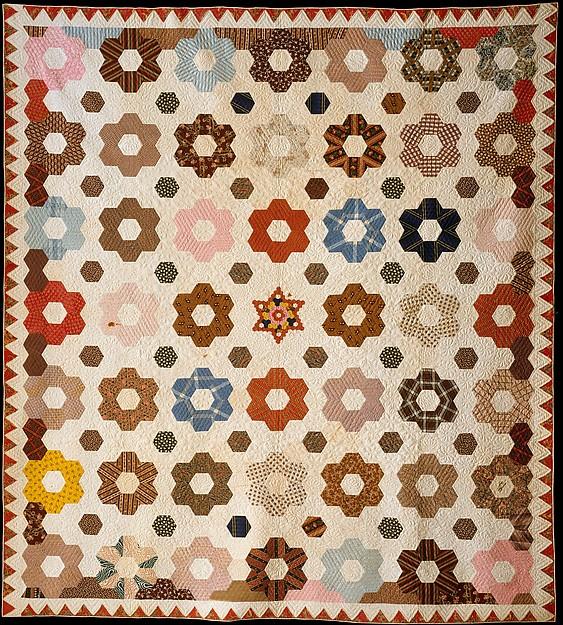 Rebecca Davis   Quilt, Hexagon or Honeycomb pattern   American ... : hexagon patterns for quilts - Adamdwight.com