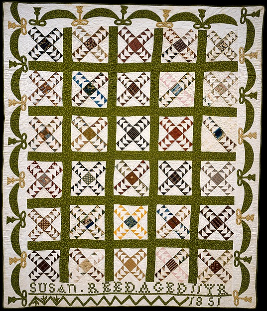 Wild Goose Chase Quilt, Susan Reed Ruddick (1839–1869), Cotton, American
