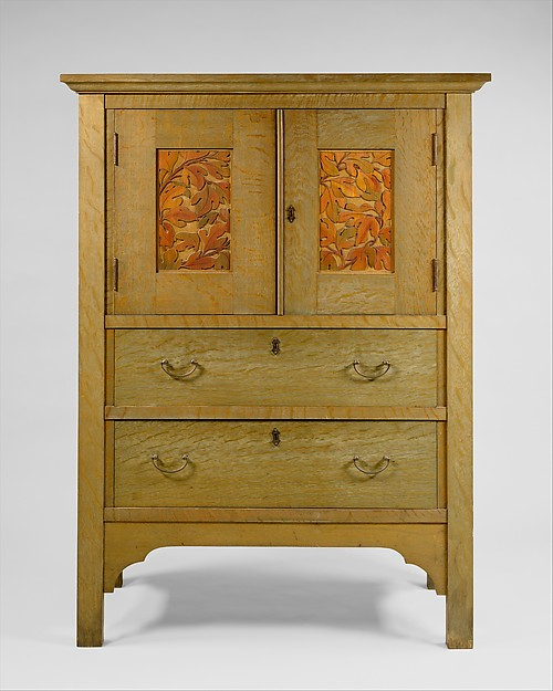 Linen Press, Byrdcliffe Arts and Crafts Colony (American, 1902–1915), Oak, tulip poplar, brass, American