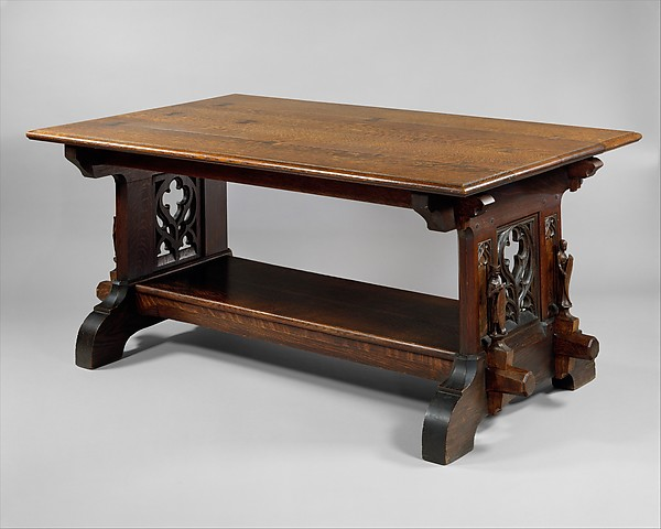 Library Table, William Lightfoot Price (1861u20131916), White Oak, Stained