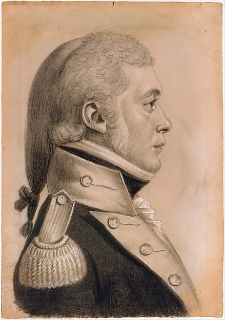 Dyer Sharp Wynkoop, Charles Balthazar Julien Févret de Saint-Mémin (1770–1852), Conté rayon, charcoal (?), and white chalk heightening on off-white laid paper coated with gouache, American
