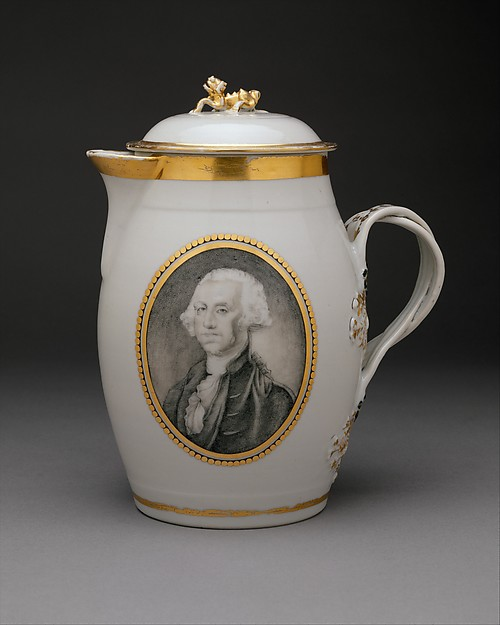 Toddy Jug, Porcelain, Chinese, for American market