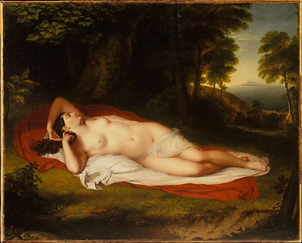 Ariadne, Asher Brown Durand (American, Jefferson, New Jersey 1796–1886 Maplewood, New Jersey), Oil on canvas, American