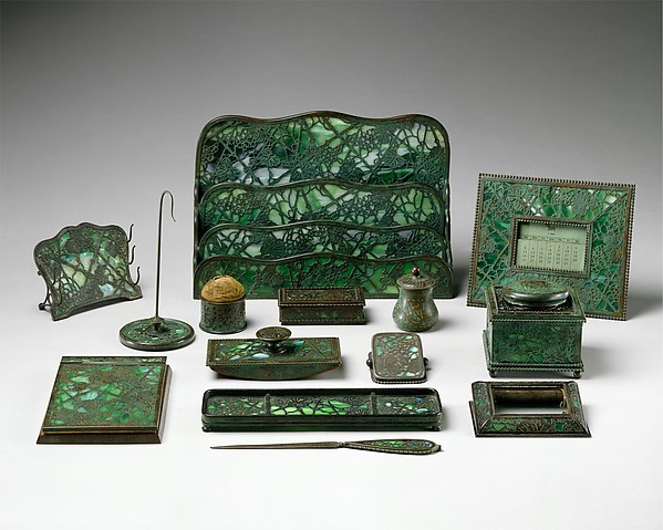 Blotter, Designed by Louis Comfort Tiffany (American, New York 1848–1933 New York), Favrile glass, bronze, American