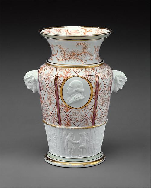 Century Vase, Designed by Karl L. H. Müller (ca. 1820–1887), Porcelain, American