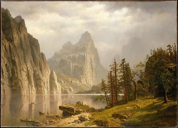 Merced River, Yosemite Valley, Albert Bierstadt (American, Solingen 1830–1902 New York), Oil on canvas, American