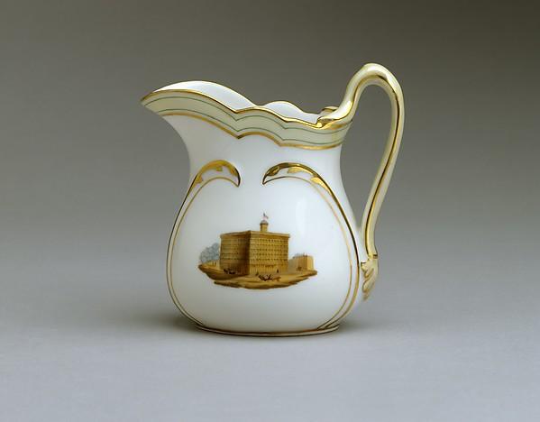 Pitcher, French Maker, Porcelain, overglaze enamel decoration and gilding, American