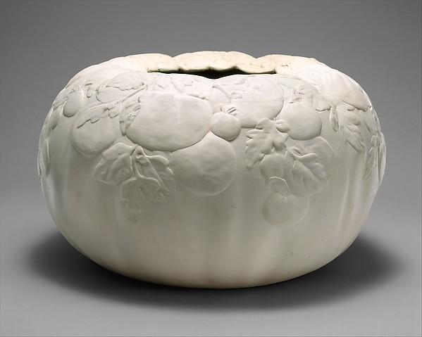 Vase, Designed by Louis Comfort Tiffany (American, New York 1848–1933 New York), Glazed white earthenware, American