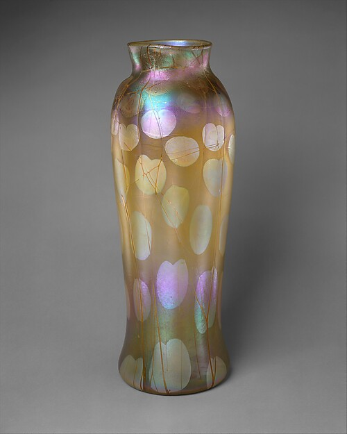 Vase, Designed by Louis Comfort Tiffany (American, New York 1848–1933 New York), Free-blown Favrile glass, American