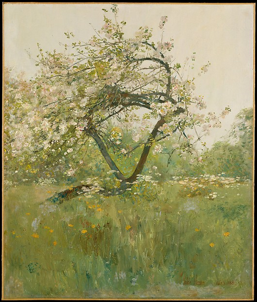 Peach Blossoms—Villiers-le-Bel, Childe Hassam (American, Dorchester, Massachusetts 1859–1935 East Hampton, New York), Oil on canvas, American