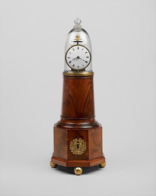 Clock, Simon Willard (1753–1848), Mahogany, mahogany veneer, white pine, brass, glass, American
