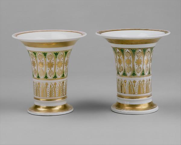 Vase, Tucker Factory (1826–1838)  , Philadelphia, Porcelain, American