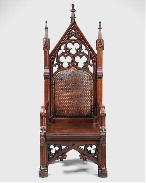 Armchair, Possibly Gustave Herter (1830–1898), Walnut, American