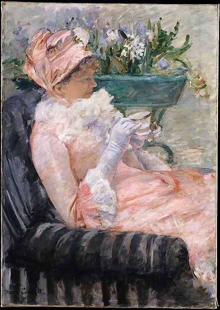 The Cup of Tea, Mary Cassatt (American, Pittsburgh, Pennsylvania 1844–1926 Le Mesnil-Théribus, Oise), Oil on canvas, American