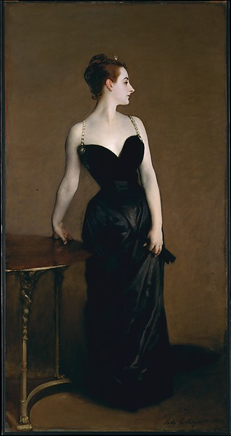 Madame X (Madame Pierre Gautreau), John Singer Sargent (American, Florence 1856–1925 London), Oil on canvas, American