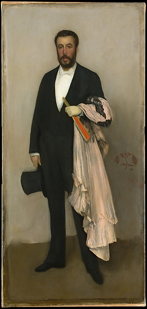 Arrangement in Flesh Colour and Black: Portrait of Theodore Duret, James McNeill Whistler (American, Lowell, Massachusetts 1834–1903 London), Oil on canvas, American