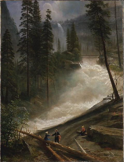 Nevada Falls, Yosemite, Albert Bierstadt (American, Solingen 1830–1902 New York), Oil on canvas, American