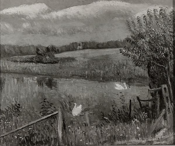 Swan Pond, Bellport, Long Island, William James Glackens (American, Philadelphia, Pennsylvania 1870–1938 Westport, Connecticut), Oil on canvas, American