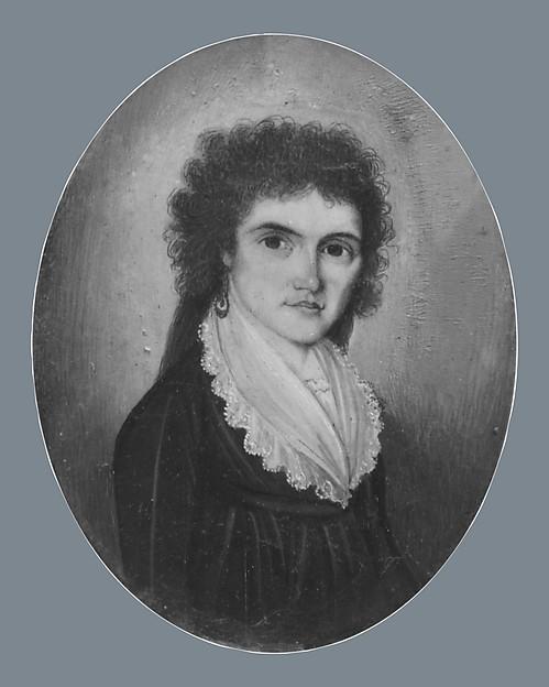 Mrs. Ethan Stone (Abigail Maria Storrs), William Verstille (American, Boston, Massachusetts 1757–1803 Boston, Massachusetts), Watercolor on ivory, American