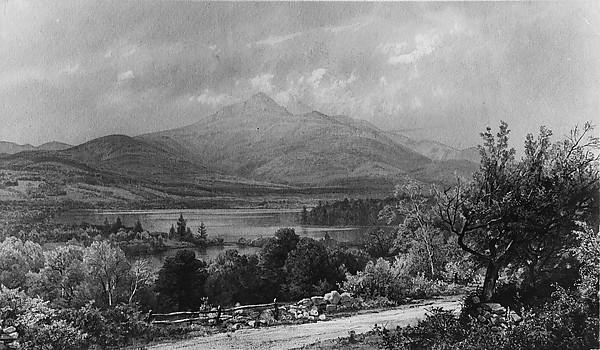 Mount Chocorua and Lake, William Trost Richards (American, Philadelphia, Pennsylvania 1833–1905 Newport, Rhode Island), Watercolor, gouache, and graphite on gray-green wove paper, American