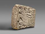 Orthostat relief: lion-hunt scene, Basalt, paint, Hittite