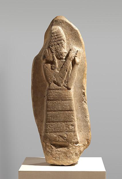 Stele of the protective goddess Lama, Gypsum alabaster, Kassite
