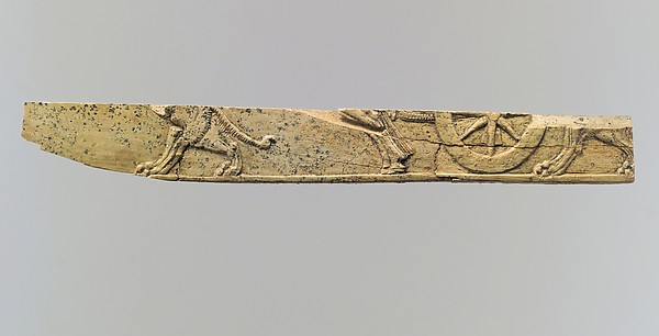 Plaque fragment, Ivory, Iran