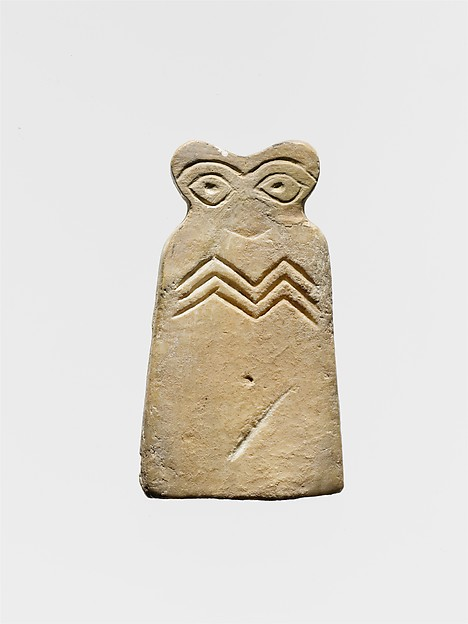 Eye idol, Gypsum alabaster