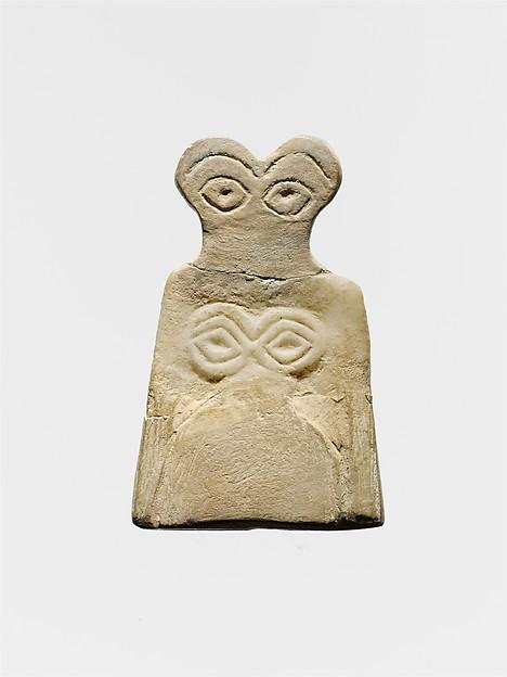Eye idol, Gypsum alabaster
