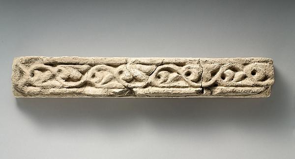 Wall decoration with vegetal design, Stucco, Sasanian