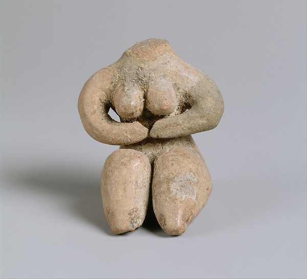 Seated female, Ceramic, paint, Halaf