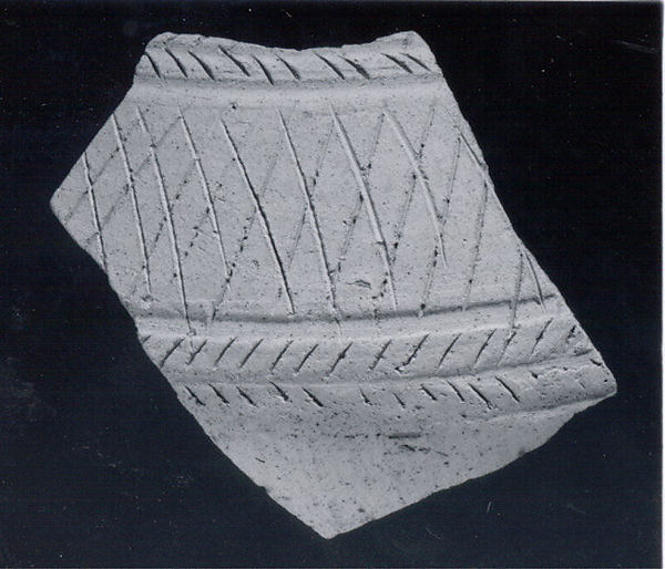 Sherd with incised decoration, Ceramic