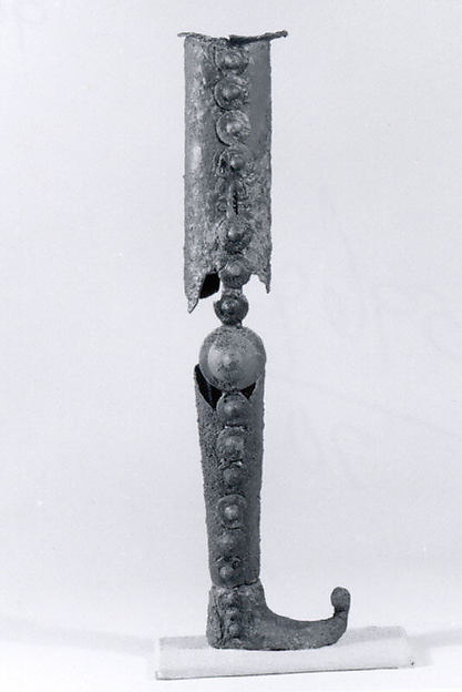 Leg of a chair or table (?), Bronze, iron, Iran