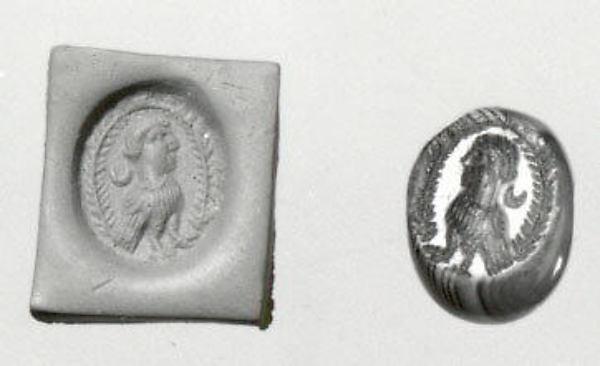 Stamp seal, Agate, Sasanian