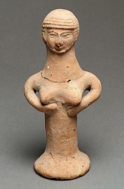Nude female figure, Ceramic, Israelite