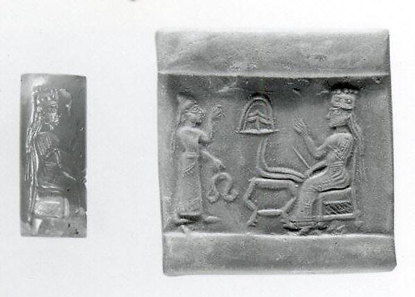 Cylinder seal, Carnelian, Assyrian