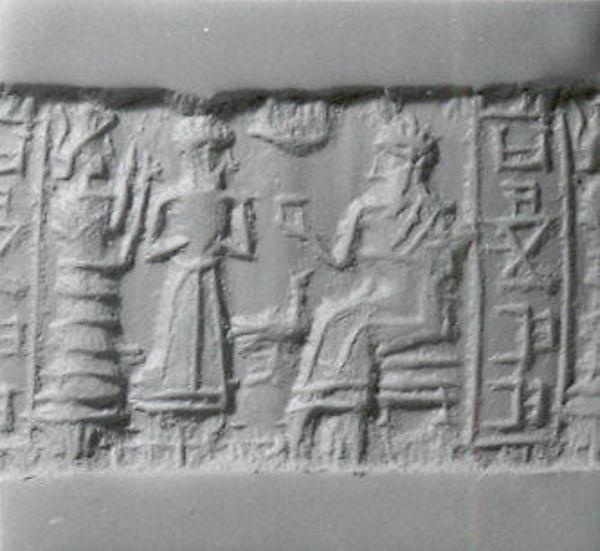 Cylinder seal, Stone, Elamite