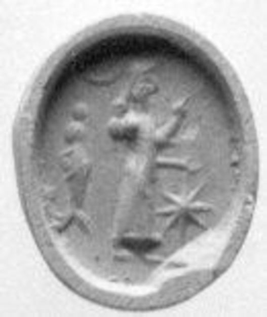 Stamp seal, Agate, Achaemenid