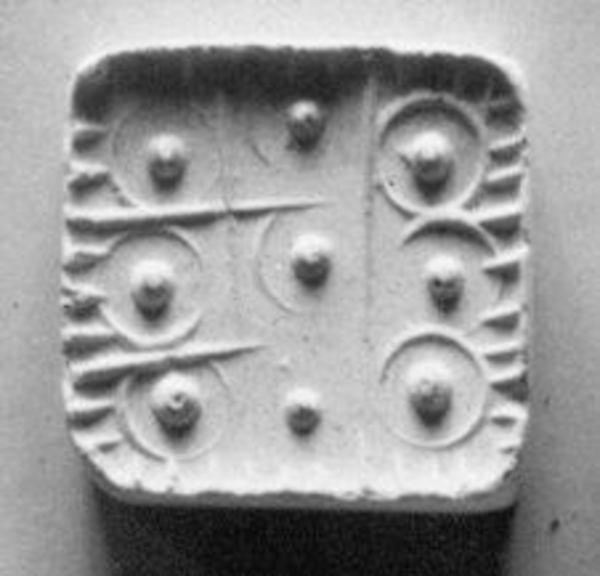 Ridge-handled thin rectangular plaque seal, Chlorite or steatite, black