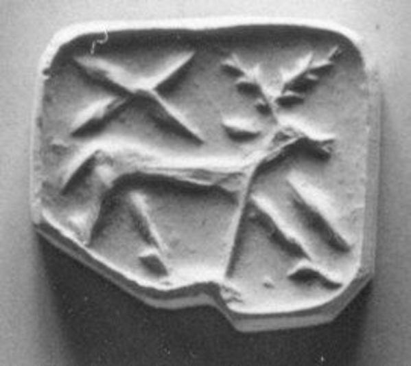 Gable seal, Chlorite or steatite, black