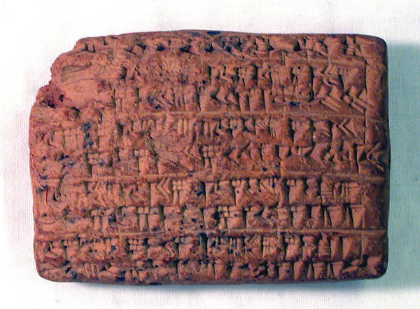 Cuneiform tablet: animal inventory from the reign of Nabopolassar or Nebuchadnezzar II, Ebabbar archive, Clay, Babylonian