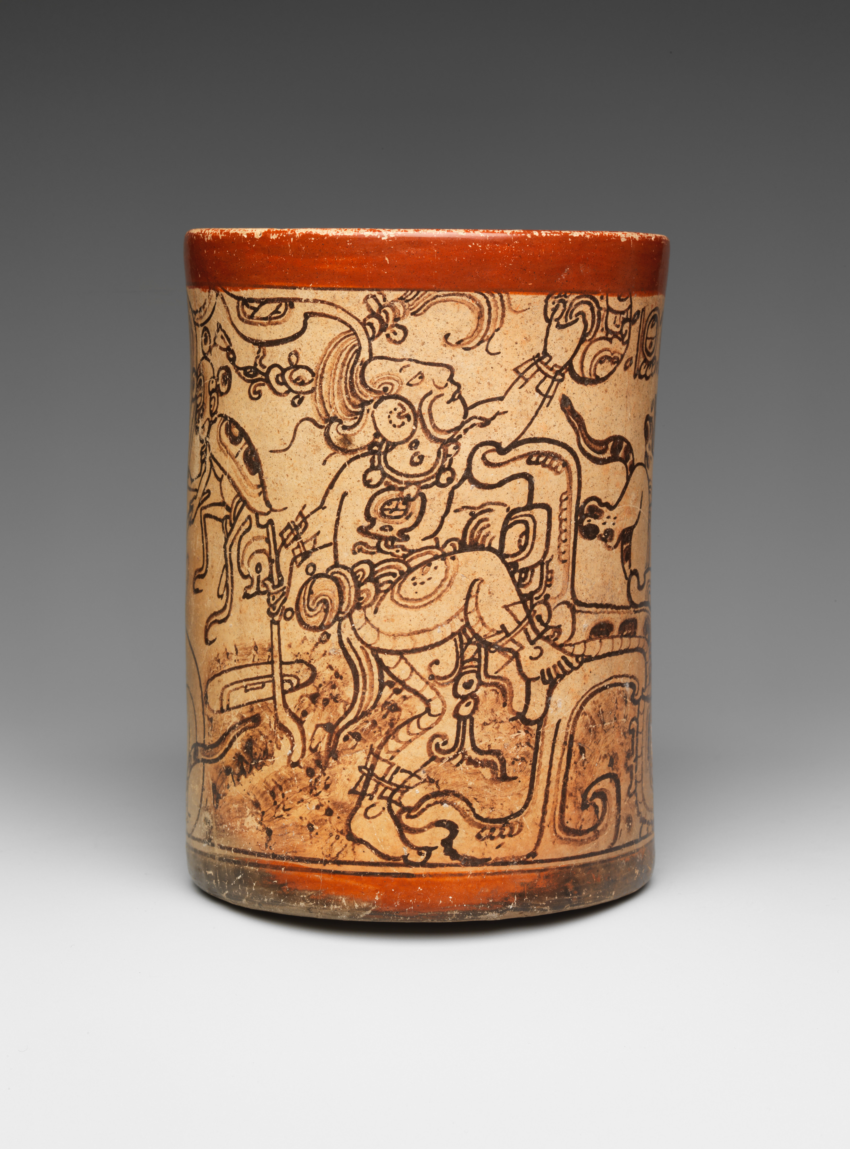 Vessel Mythological Scene Maya The Met