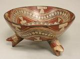 Ceramic Tripod Vessel, Ceramic, slip, pigment, Mexican