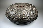Lidded Vessel, Wood, metal, Yoruba peoples