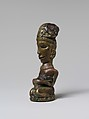 Finial from a Ritual Staff (Tungkot Malehat), Copper alloy, resin, Toba Batak people