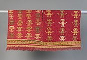 Tunic with Crescent Headdress Figures, Camelid hair, cotton, Chimú