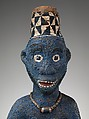 Throne of Njouteu: Royal Couple, Wood, glass beads, cloth, cowrie shells, Bamileke peoples, Chiefdom of Bansoa