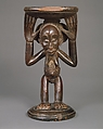 Prestige Stool: Female Caryatid, Buli Master, possibly Ngongo ya Chintu (Hemba, ca. 1810-1870), Wood, metal studs, Luba or Hemba peoples