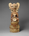 Censer, Seated King, Ceramic, Maya